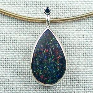 Opalanhänger 3,60 ct Fairy Boulder Opal 14k 585er Goldanhänger