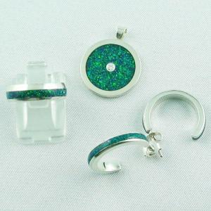 konfiguriere dein 935er Silber-Schmuckset mit Opal Inlay