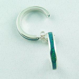 konfiguriere deine 935er Silber 3/4 Creolen mit Opal Inlay