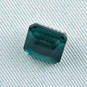 2,99 ct Turmalin Blau Grüner Indigolith Octagon Edelstein Tourmalin