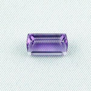 Violetter Amethyst 3,64 ct Kissenschliff Schmuckstein
