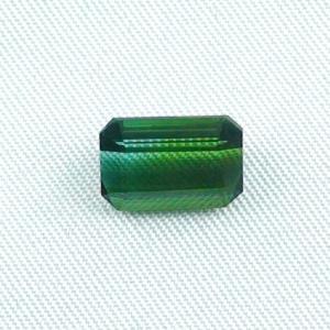 3,53 ct Turmalin Grüner Verdelith Octagon Schliff Edelstein Tourmalin