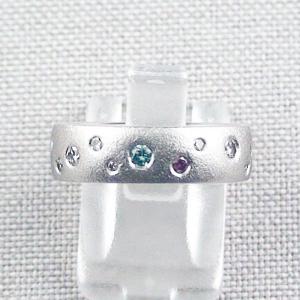950er Platinring, Diamantring, Brillantring, Memoryring