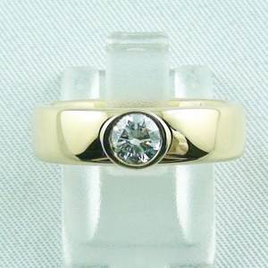 Massiver 750er 18k Herrenring mit 0,50 ct Diamant Halbkaräter Goldring