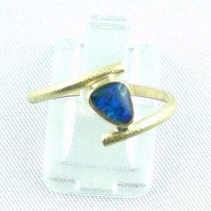 18k Opalring, 750er Goldring mit 0,40 ct Black Opal