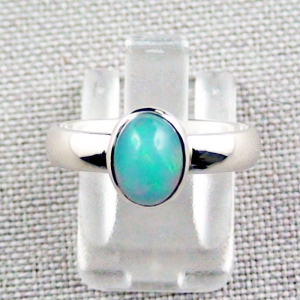 935er Silberring mit 1,41 ct. Welo Opal Opalring Grün Multicolor
