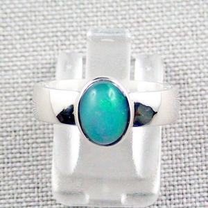Damenring mit 1,38 ct. Grüner Welo Opal Opalring aus Silber