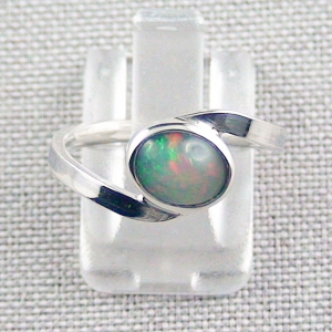 Damenring mit 0,93 ct Welo Opal 935er Silberring Multicolor Opalstein