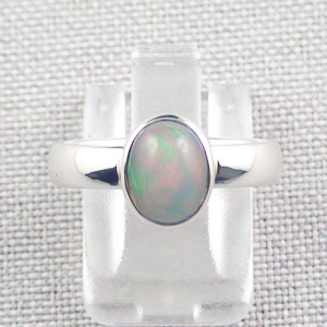 935er Silberring mit 1,41 ct. Welo Opal Opalring Multicolor 4,71 Gr.