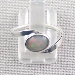 Damenring mit 0,90 ct Welo Opal 935er Silberring Multicolor Opalstein
