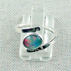 Damenring mit 0,95 ct Multicolor Welo Opal 935er Silber