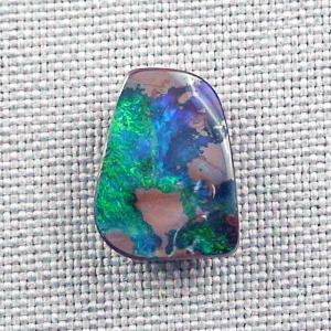 Blauer Grüner Boulder Opal 7,90 ct Edelstein Boulderopal Schmuckstein