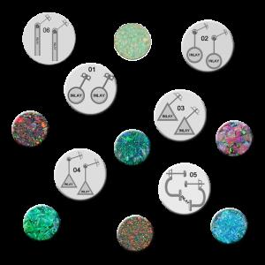 konfiguriere deine Silberanohrringe mit Opal Inlay