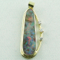 Preview: 14k Opal-Anhänger, Boulder Opal 6,90 ct, Diamanten, Bild1