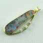 Preview: 14k Opal-Anhänger, Boulder Opal 6,90 ct, Diamanten, Bild2