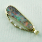 Preview: 14k Opal-Anhänger, Boulder Opal 6,90 ct, Diamanten, Bild3