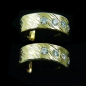 Preview: 3/4 Creolen, 18k Diamant-Gold-Ohrstecker zus. 0,25 ct, Bild3