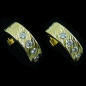 Preview: 3/4 Creolen, 18k Diamant-Gold-Ohrstecker zus. 0,25 ct, Bild4