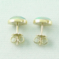Preview: Welo Opal Ohrstecker Set 18k 750er Gelbgold Grün Rotes Multicolor 1,44 + 1,39 ct