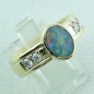 Mobile Preview: Auftragsarbeit: Massiver 18k Goldring mit Semi Black Opal u. Diamanten, Bild6