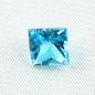 Preview: AAA Custom Square Cut Blautopas 2,71 ct Swiss Blue online kaufen!