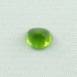 Preview: Grüner Peridot 2,99 ct oval portuguese Schliff Zertifikat lupenrein Chrysolith