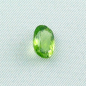 Preview: Grüner Chrysolith Peridot 3,53 ct oval portuguese Schliff Zertifikat leuchtend lupenrein