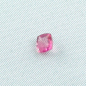 Mobile Preview: 1,10 ct Rubellit Turmalin Neon Pink Kissenschliff facettiert 6,13 x 6,08 x 3,85 mm