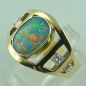 Preview: Goldring 585, Schwarzopal, Diamanten, Black Opal, Opalring, Bild6