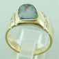 Preview: Massiver Goldring 2,20 ct Boulder Opal und 0,32 ct Diamanten, Bild4