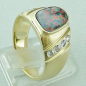 Preview: Massiver Goldring 2,20 ct Boulder Opal und 0,32 ct Diamanten, Bild5