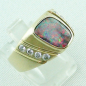 Preview: Massiver Goldring 2,20 ct Boulder Opal und 0,32 ct Diamanten, Bild6