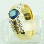 Preview: 18k Herrenring, Goldring mit 1,21 ct Saphir, Diamanten, Bild4