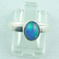 Mobile Preview: 925er Silberring Damen-Opalring mit 1,14 ct Welo Opal, Bild1