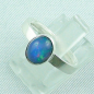 Mobile Preview: 925er Silberring Damen-Opalring mit 1,14 ct Welo Opal, Bild2