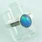 Mobile Preview: 925er Silberring Damen-Opalring mit 1,14 ct Welo Opal, Bild6