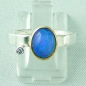Preview: 4,66 gr Silberring, Welo Opal 1,23 ct in 18k Gold u Diamant, Bild1