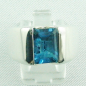 Mobile Preview: 17,99 gr. Designer-Silber-Ring, 4,52 ct Blau-Topas, Bild1