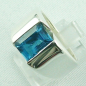 Mobile Preview: 17,99 gr. Designer-Silber-Ring, 4,52 ct Blau-Topas, Bild2