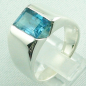 Mobile Preview: 17,99 gr. Designer-Silber-Ring, 4,52 ct Blau-Topas, Bild3