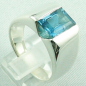 Mobile Preview: 17,99 gr. Designer-Silber-Ring, 4,52 ct Blau-Topas, Bild5
