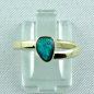 Preview: 14k Gold-Opal-Ring mit Black Opal, Verlobungsring, Damenring, Bild1