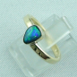 Preview: 14k Gold-Opal-Ring mit Black Opal, Verlobungsring, Damenring, Bild2