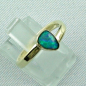 Preview: 14k Gold-Opal-Ring mit Black Opal, Verlobungsring, Damenring, Bild6