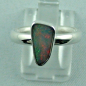 Preview: Sterling Silberring mit Top Semi Black Opal 1,30 ct, Bild1