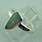 Preview: Sterling Silberring mit Top Semi Black Opal 1,30 ct, Bild2