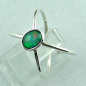 Preview: Massiver Silberring mit Welo Opal 0,69 ct Opalring, Bild2