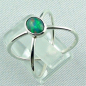 Preview: Massiver Silberring mit Welo Opal 0,69 ct Opalring, Bild3