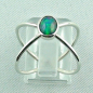 Preview: Massiver Silberring mit Welo Opal 0,69 ct Opalring, Bild4