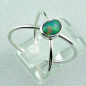 Preview: Massiver Silberring mit Welo Opal 0,69 ct Opalring, Bild5
